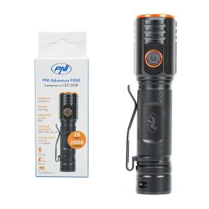 Lanterna PNI Adventure F650 cu LED 20W, 2000lm
